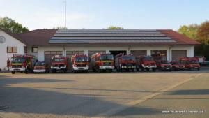 Der Fuhrpark der Freiwilligen Feuerwehr Lienen