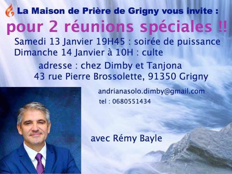13 et 14 janvier à grigny - 2 réunions