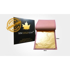feuille d'Or 80mm x 80mm 24 carats 100% garanti (10 ou 25 feuilles)