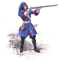 Dragon combattant à pied - 1685