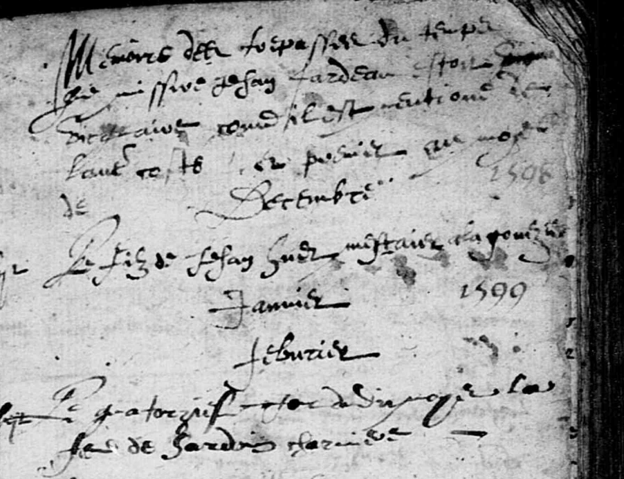 Notes sur les sépultures de Briollay -1598-1620