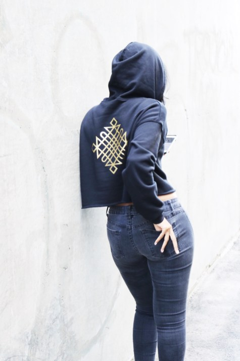 """Feven in """"The Resilience Crop Top Hoodie"""""""