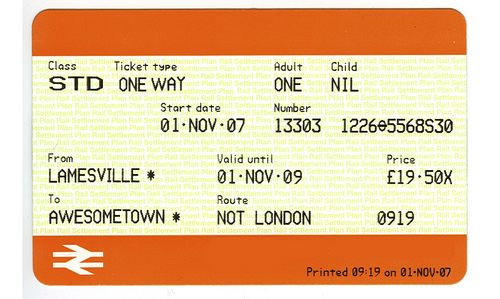 ticket to lamesville