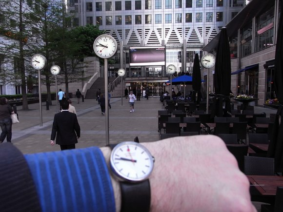 Clocks & Watches @ Canary Wharf, by DesheBoard - Flickr