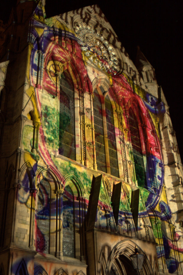 York Minster in the Illuminating York Festival, 2010 - Mike Sowden