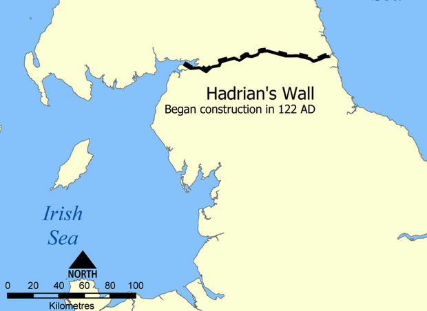 Fevered Mutterings Image: Hadrian's Wall Map - Norman Einstein, Wikimedia Commons