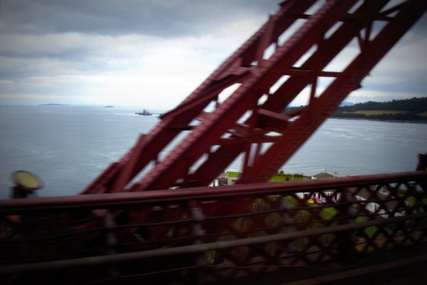 Train Crossing Forth Bridge