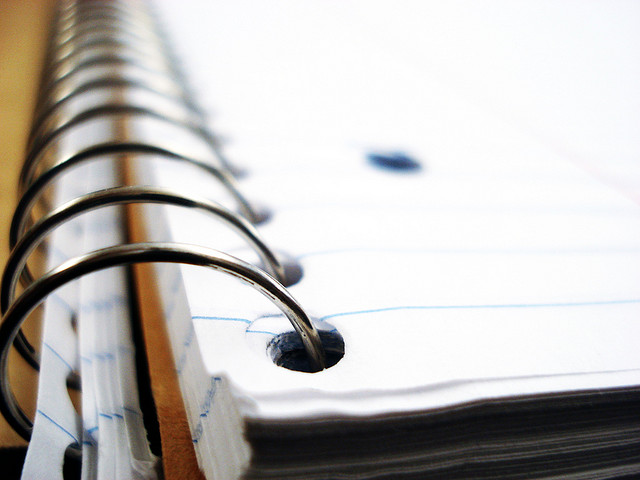 spiral notebook close-up