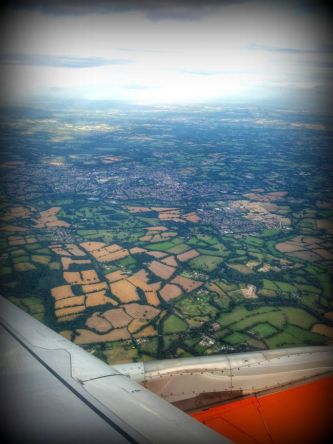 view from easyjet plane window