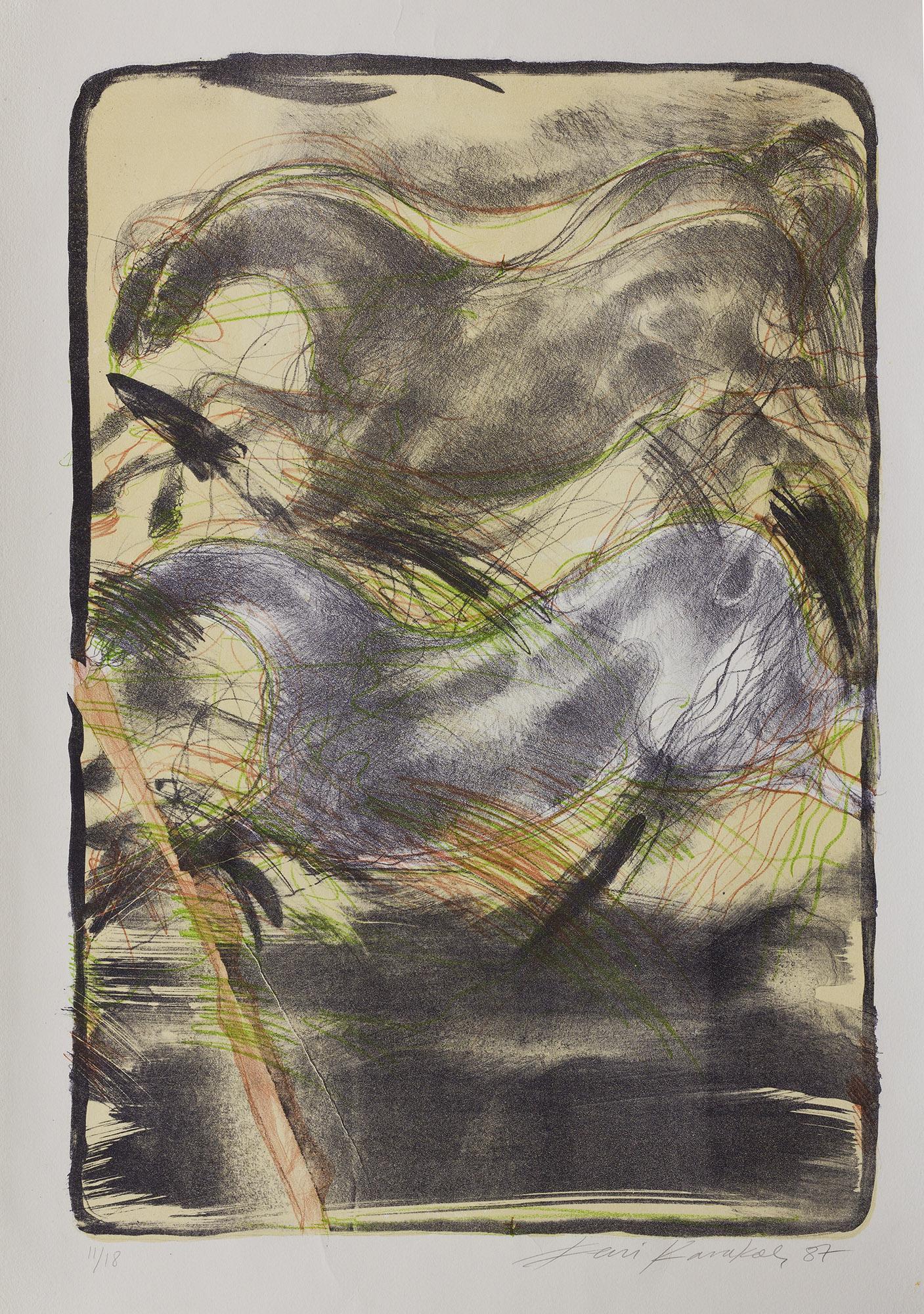 Çatlayan Taş 1987 70x50 cm. Litografi