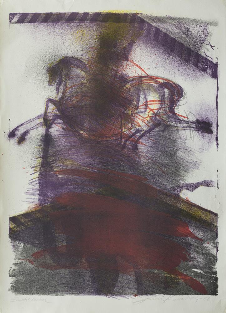 Atlı Sultan 1998 78x56 cm. Litografi