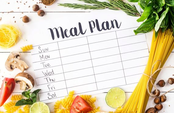 image of a meal planning calendar at Fe Will Wellness