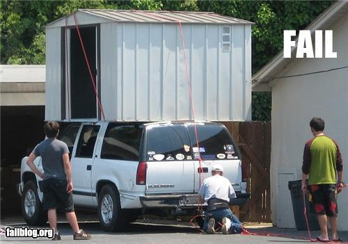 Tool Shed Moving Fail