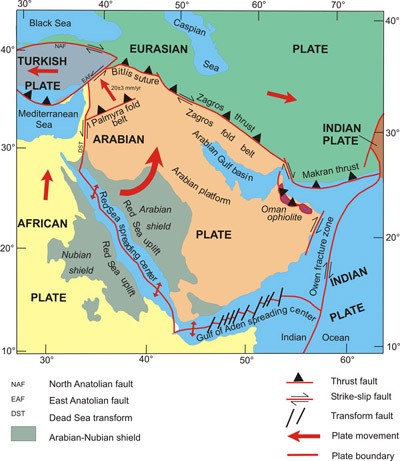arabian plate saudi geological survey