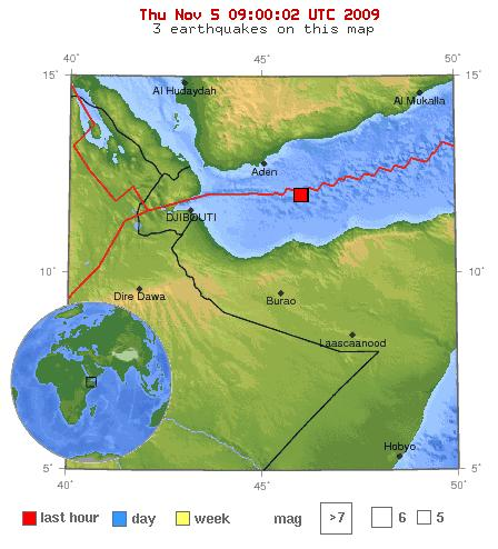 EQ location Map USGS