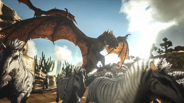 ARK Survival Evolved Coming To PS4 Xbox One Amp PC Lets You Craft Build Homes Amp Tame Dinosaurs