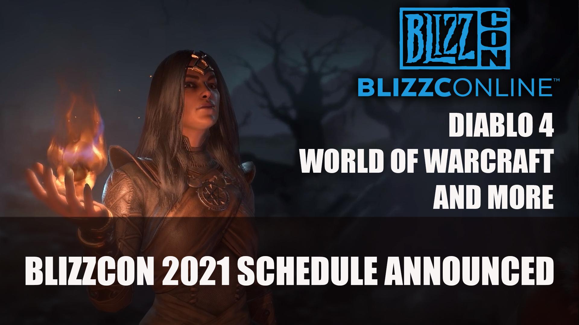 What to suspend Textile BlizzConline 2021 DIABLO