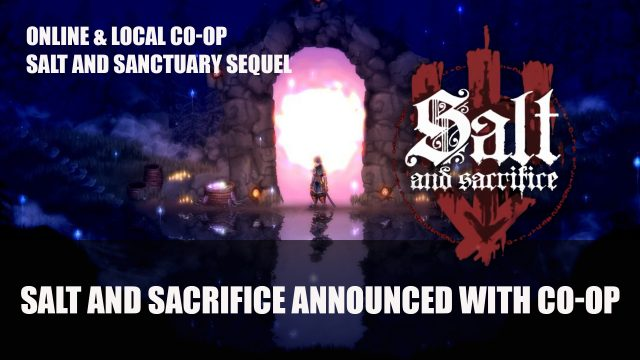 Sacrifice and once they introduced the sequel to the salt and Sanctuary Co-op