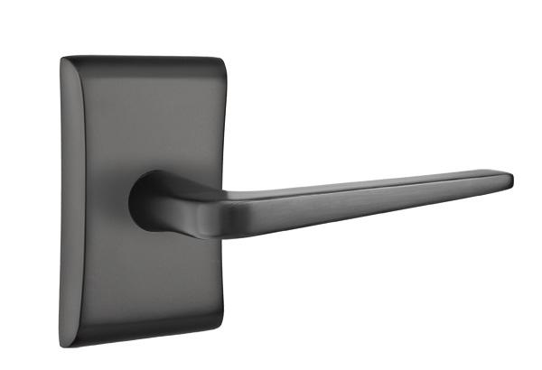 Athena Lever - Neos rosette - flat black
