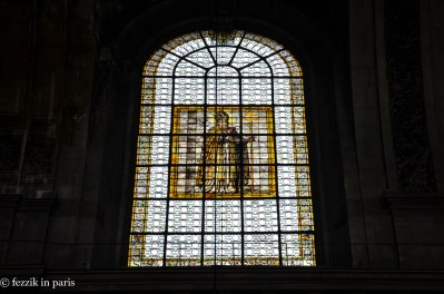 There's some nice stained glass.