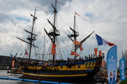 Replica ships abounded, too.