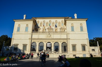 """Borghese Gallery and Museum. Just for reference, """"no bags allowed"""" means you can't bring any bags in (there's a bag check downstairs). On the other hand, whining about this to the guard who lets everybody into the museum at the appointed time (two hours only, reservation required, and they throw everybody out at the end of the two hours) will result in him waving you downstairs, huffing in an exasperated matter, and saying (not under his breath, mind you) I don't speak fucking English."""