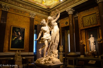Bernini's Apollo and Daphne. One of two primary reasons we came to this gallery.