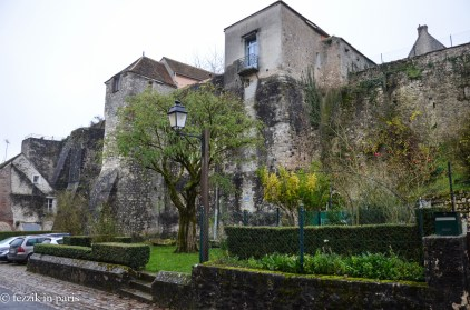Apartments built into the remains of the ramparts.