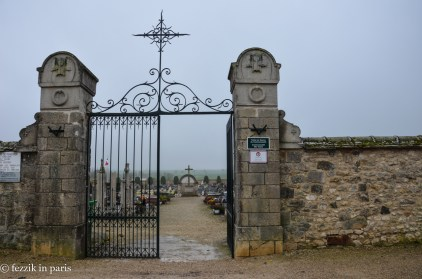 The gate to said cemetery.