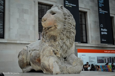 A lion. Probably stolen.