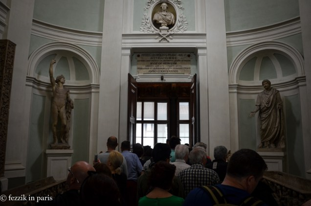The interior entrance to the Uffizi gallery. Sigh.