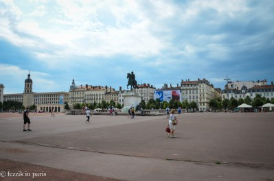 Bellecour is more empty than belle.