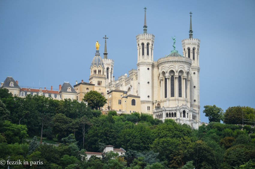La basilique notre-dame de Fourvière, otherwise known as that bigass church on the hill that overlooks the city.