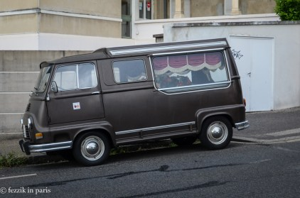 We thought it was simply a Renault-made copy of a VW van. It turned out to be a hearse.