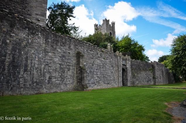 Dublin's old city walls.
