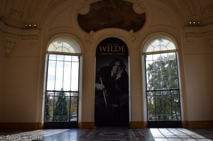This is as much of the Oscar Wilde exhibit as one is allowed to photograph.