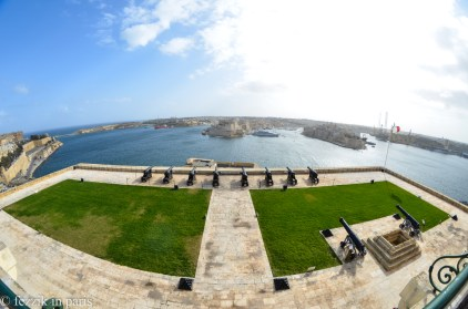 Returning to Valletta, we have the saluting battery.