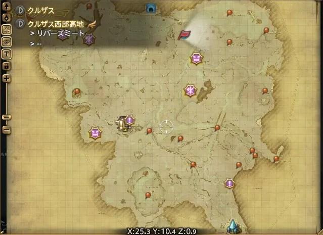周辺マップ:復興用の精霊銀砂