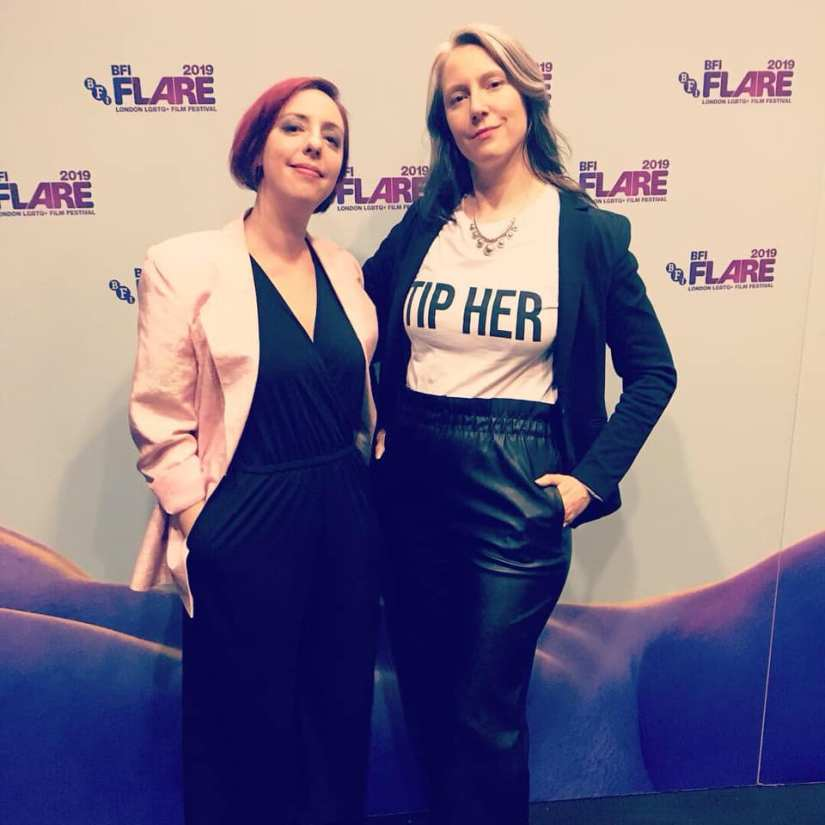 Laura Madalinski and Kelly Haas attend BFI Flare 2019