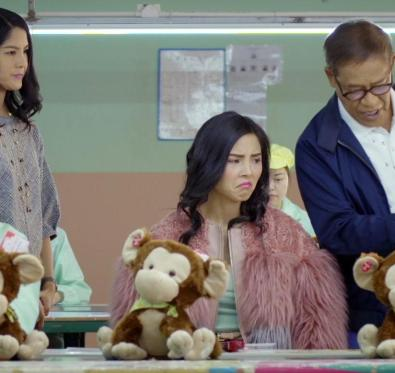 Lynn Chen, Anna Akana, and Richard Ng in Go Back to China directed by Emily Ting.