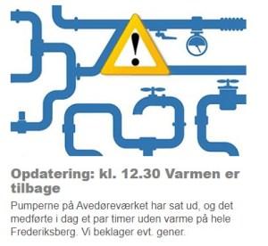 Frederiksberg Forsyning oplyser at varmen er tilbage igen!