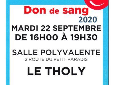 Vosges : Offrez votre Sang le 22 septembre 2020
