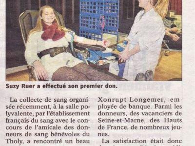 Vosges : «Une belle mobilisation des donneurs de sang»