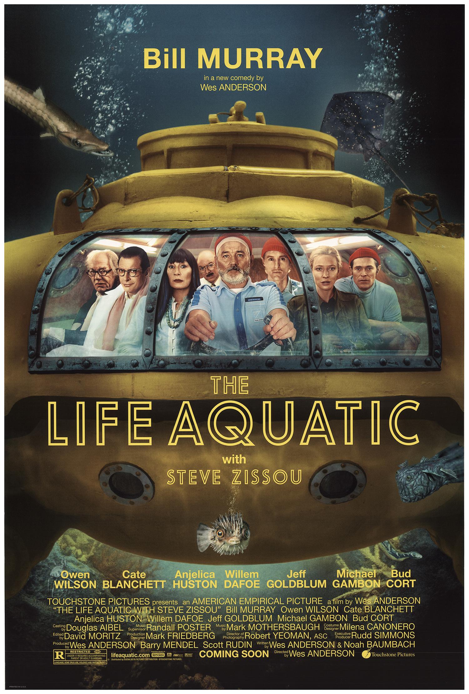 the life aquatic 24 x 36 movie poster print antiquitaten kunst alexanderazukar kunst