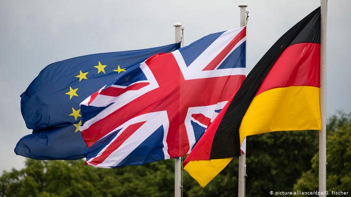 Brexit Europe Germany flags