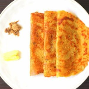 adai with butter and jaggery