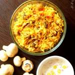 Mushroom Biryani Recipe – Biryani in Pressure Cooker