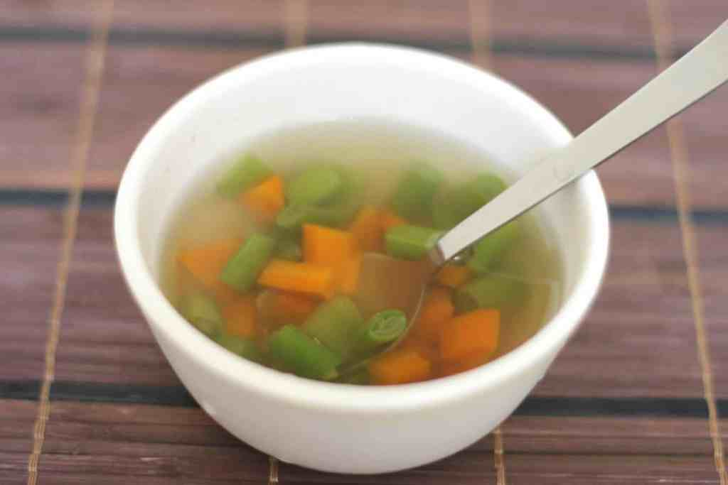 Veg clear Soup - 5 Months baby food
