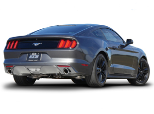 borla exhaust 2015 2020 ford mustang ecoboost stinger s type cat back exhaust with polished tips