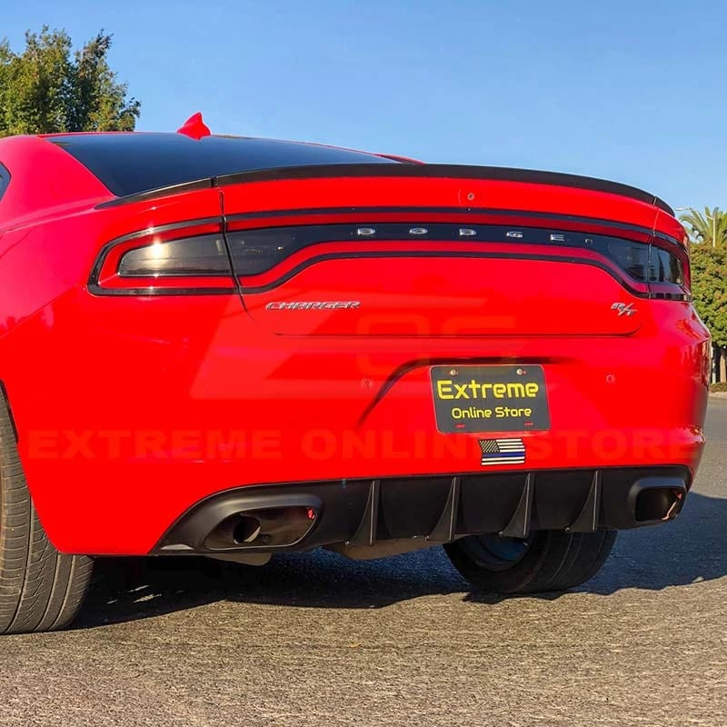 extreme online store 2015 2020 dodge charger srt style rear bumper dual exhaust diffuser